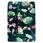 Modern Green And Pink Leaves Flap Covers (L)  Front