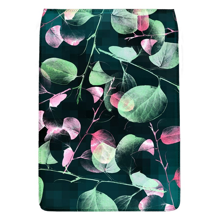 Modern Green And Pink Leaves Flap Covers (L)