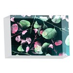 Modern Green And Pink Leaves 4 x 6  Acrylic Photo Blocks Front
