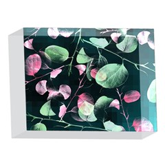 Modern Green And Pink Leaves 5 x 7  Acrylic Photo Blocks