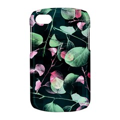 Modern Green And Pink Leaves BlackBerry Q10