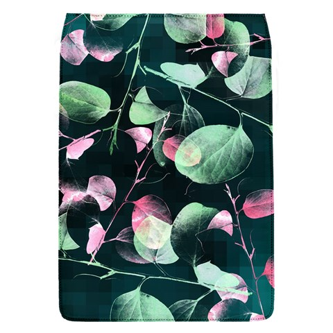 Modern Green And Pink Leaves Flap Covers (S)