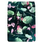Modern Green And Pink Leaves Flap Covers (S)  Front