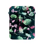 Modern Green And Pink Leaves Apple iPad 2/3/4 Protective Soft Cases Front