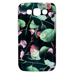 Modern Green And Pink Leaves Samsung Galaxy Win I8550 Hardshell Case