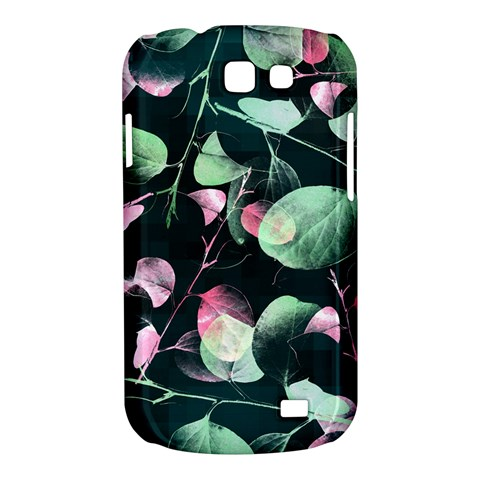 Modern Green And Pink Leaves Samsung Galaxy Express I8730 Hardshell Case