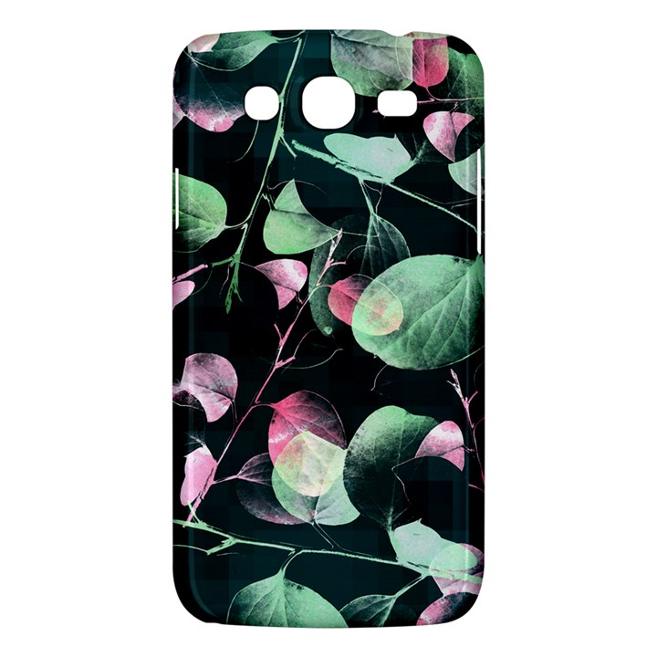 Modern Green And Pink Leaves Samsung Galaxy Mega 5.8 I9152 Hardshell Case