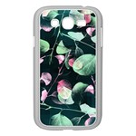 Modern Green And Pink Leaves Samsung Galaxy Grand DUOS I9082 Case (White) Front