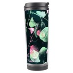 Modern Green And Pink Leaves Travel Tumbler Center