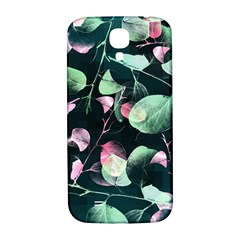 Modern Green And Pink Leaves Samsung Galaxy S4 I9500/i9505  Hardshell Back Case