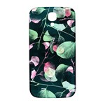 Modern Green And Pink Leaves Samsung Galaxy S4 I9500/I9505  Hardshell Back Case Front
