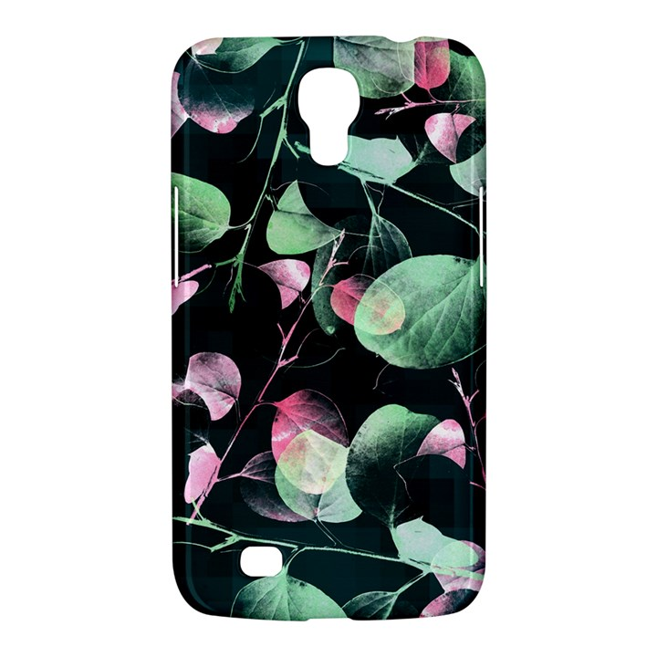 Modern Green And Pink Leaves Samsung Galaxy Mega 6.3  I9200 Hardshell Case