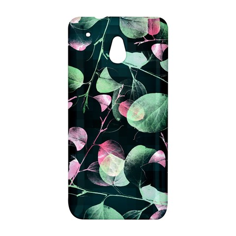 Modern Green And Pink Leaves HTC One Mini (601e) M4 Hardshell Case