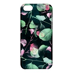 Modern Green And Pink Leaves Apple iPhone 5C Hardshell Case