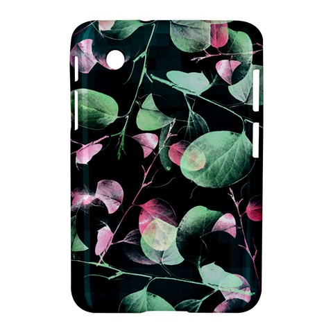 Modern Green And Pink Leaves Samsung Galaxy Tab 2 (7 ) P3100 Hardshell Case