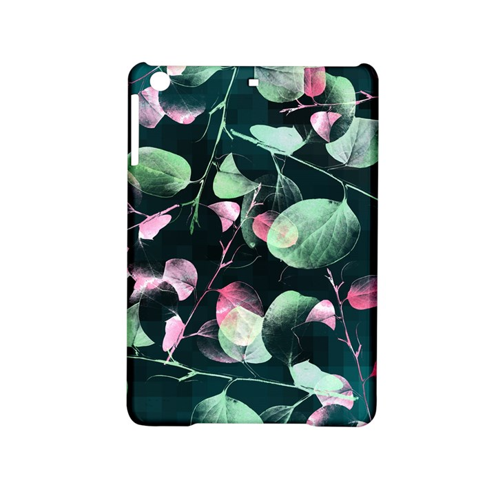 Modern Green And Pink Leaves iPad Mini 2 Hardshell Cases