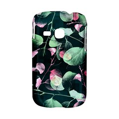 Modern Green And Pink Leaves Samsung Galaxy S6310 Hardshell Case