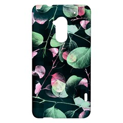 Modern Green And Pink Leaves HTC One Max (T6) Hardshell Case