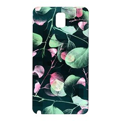 Modern Green And Pink Leaves Samsung Galaxy Note 3 N9005 Hardshell Back Case