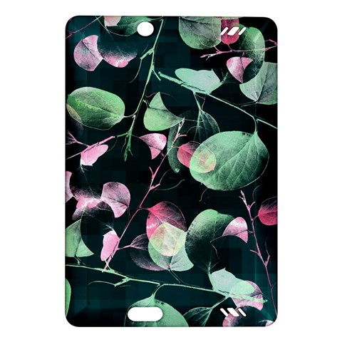 Modern Green And Pink Leaves Amazon Kindle Fire HD (2013) Hardshell Case