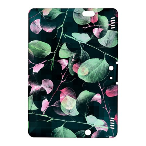 Modern Green And Pink Leaves Kindle Fire HDX 8.9  Hardshell Case