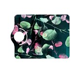 Modern Green And Pink Leaves Kindle Fire HD (2013) Flip 360 Case Front