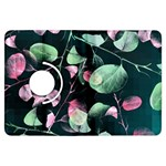Modern Green And Pink Leaves Kindle Fire HDX Flip 360 Case Front