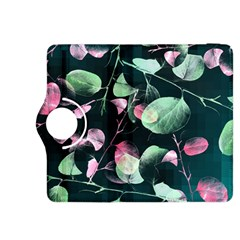 Modern Green And Pink Leaves Kindle Fire Hdx 8 9  Flip 360 Case