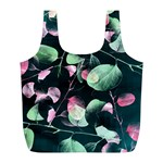 Modern Green And Pink Leaves Full Print Recycle Bags (L)  Front