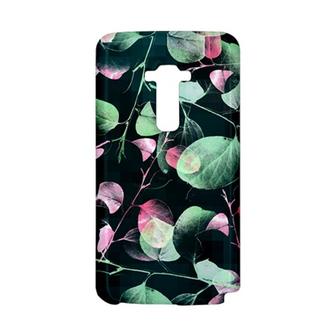 Modern Green And Pink Leaves LG G Flex