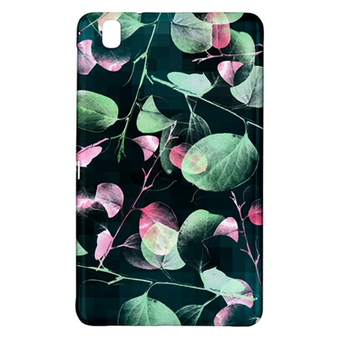 Modern Green And Pink Leaves Samsung Galaxy Tab Pro 8.4 Hardshell Case