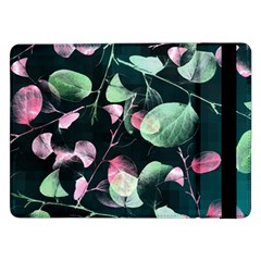 Modern Green And Pink Leaves Samsung Galaxy Tab Pro 12 2  Flip Case