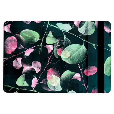 Modern Green And Pink Leaves iPad Air Flip