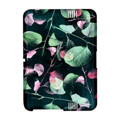 Modern Green And Pink Leaves Amazon Kindle Fire (2012) Hardshell Case