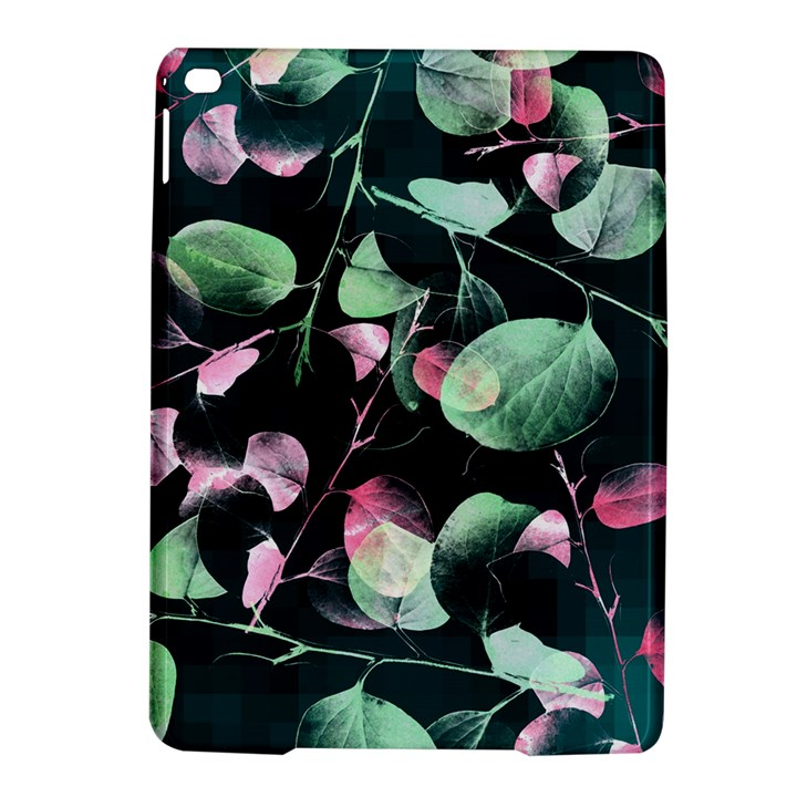 Modern Green And Pink Leaves iPad Air 2 Hardshell Cases