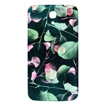 Modern Green And Pink Leaves Samsung Galaxy Mega I9200 Hardshell Back Case Front