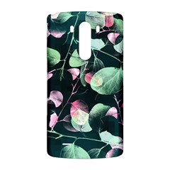 Modern Green And Pink Leaves LG G3 Back Case