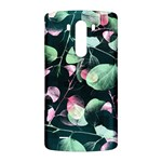 Modern Green And Pink Leaves LG G3 Back Case Front