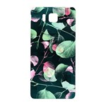 Modern Green And Pink Leaves Samsung Galaxy Alpha Hardshell Back Case Front