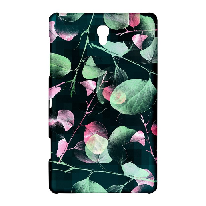 Modern Green And Pink Leaves Samsung Galaxy Tab S (8.4 ) Hardshell Case