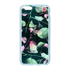 Modern Green And Pink Leaves Apple Seamless iPhone 6/6S Case (Color)