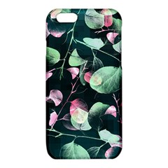 Modern Green And Pink Leaves iPhone 6/6S TPU Case