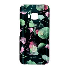 Modern Green And Pink Leaves HTC One M9 Hardshell Case
