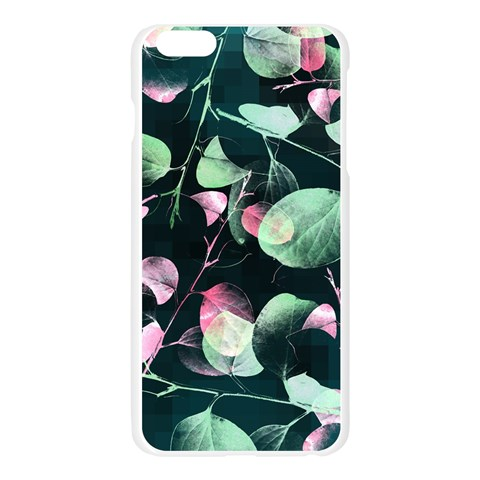 Modern Green And Pink Leaves Apple Seamless iPhone 6 Plus/6S Plus Case (Transparent)