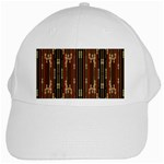 Floral Strings Pattern  White Cap Front