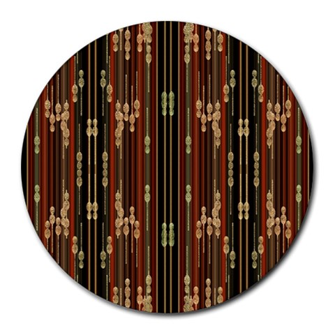 Floral Strings Pattern  Round Mousepads