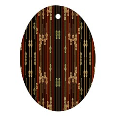 Floral Strings Pattern  Ornament (Oval)