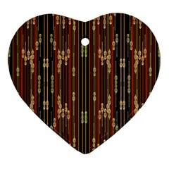 Floral Strings Pattern  Ornament (Heart)