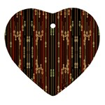 Floral Strings Pattern  Ornament (Heart)  Front