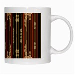 Floral Strings Pattern  White Mugs Right